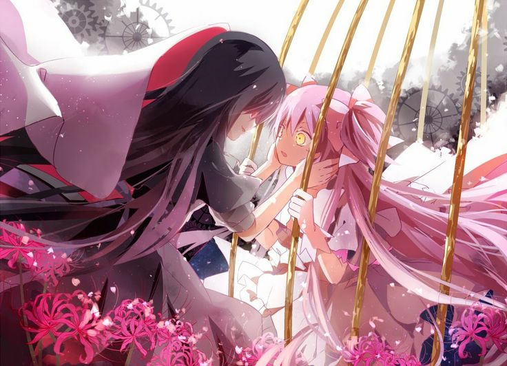 Here Is A Pretty Anime Wallpaper Showing Goddess Madoka