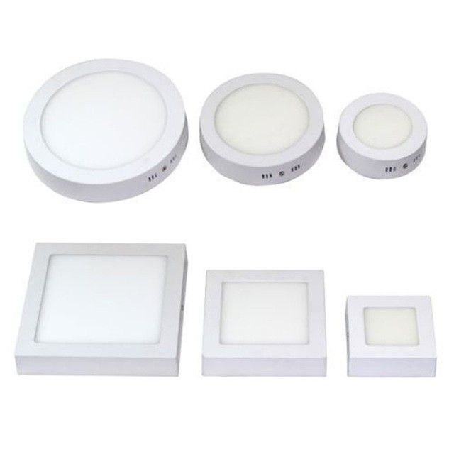 Free Shipping 6w 12w 18w Round Square Led Panel Light Surface