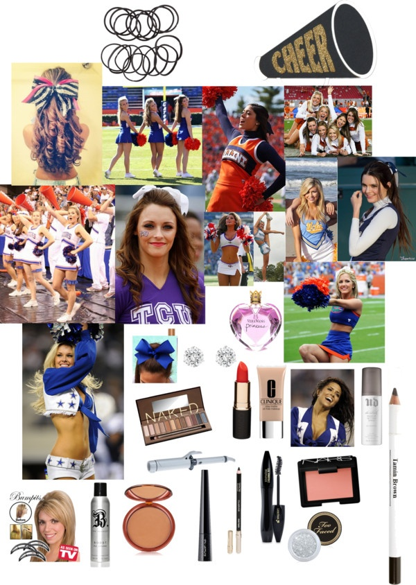 """""""cheer makeup"""" by prettypink0 ❤ liked on Polyvore"""