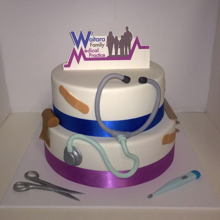 Medical cake. Waitara Medical Practice grand opening cake.