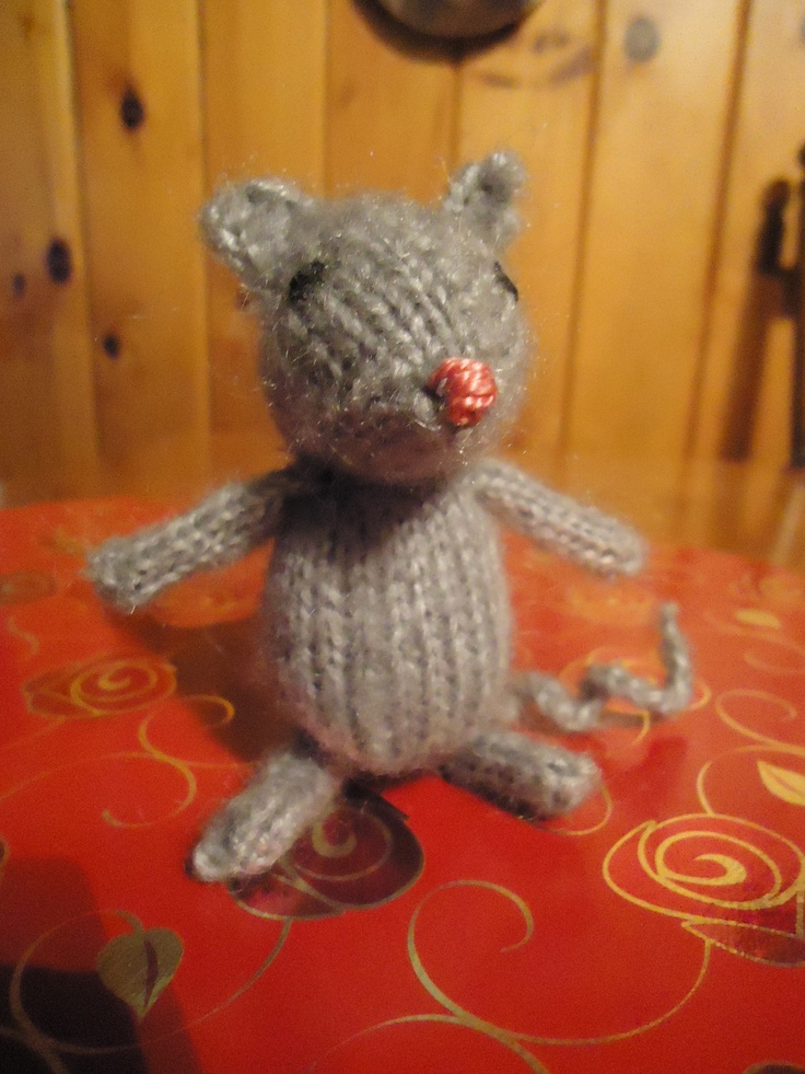 """Pattern from Ravelry.com - Marisol the mouse became """"Melvin"""" the mouse."""