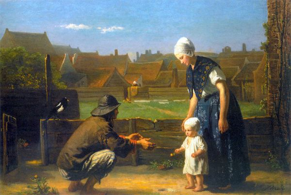 Jozef Israels (1824 – 1911, Dutch) ''The first step''