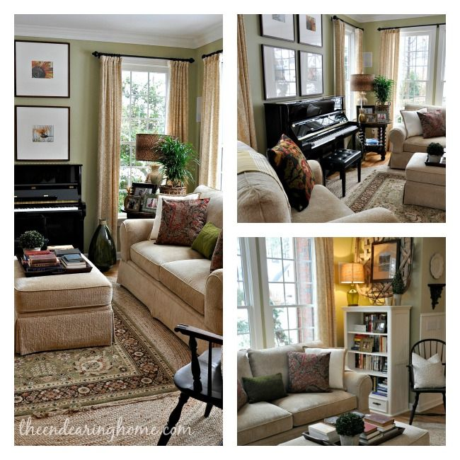 Love the decorating style and great suggestions for wall colors for the home for Suggested paint colors for living room