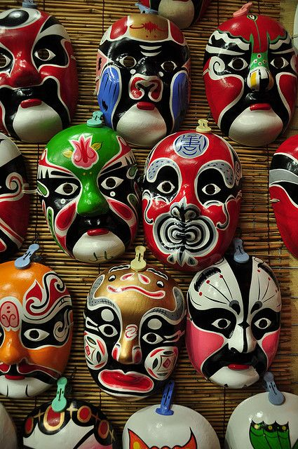 Masks for Chinese opera | China photo | Orient, the ...