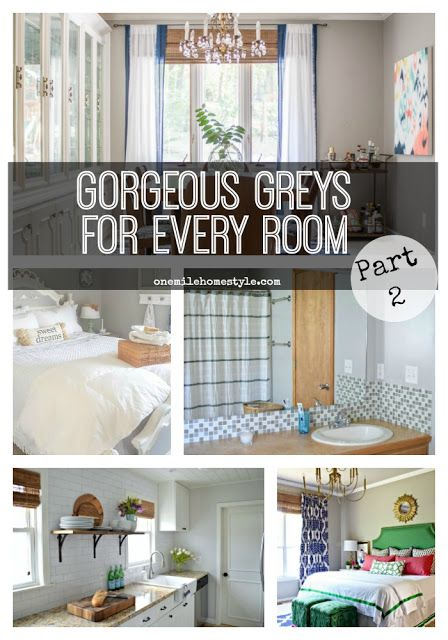 Can't get enough of gorgeous grey rooms? Here is inspiration for using this perfect neutral all over your home!! - One Mile Home Style: Inspiring Spaces - Beautiful Grey Rooms (Part 2)