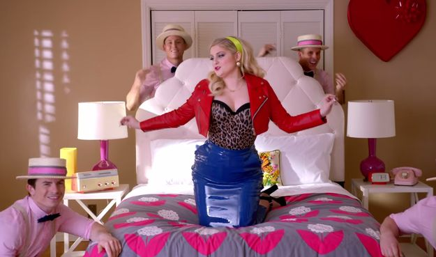 """Meghan Trainor's sexist new video. """"Dear future husband, if you wanna get that special lovin', tell me I'm beautiful each and every night."""" Or not."""