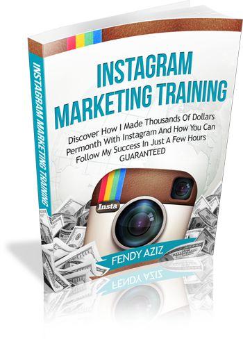 Instagram Marketing Training eCover Design by Ridwan Sugi. www.redshieldminisite.com