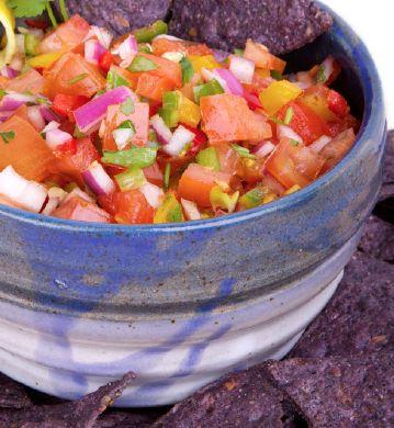 Let the fiesta begin!  Pico de Gallo;  Mango Guacamole;  Beef Tamales;  Enchilada Pie; Pineapple Ginger Margaritas