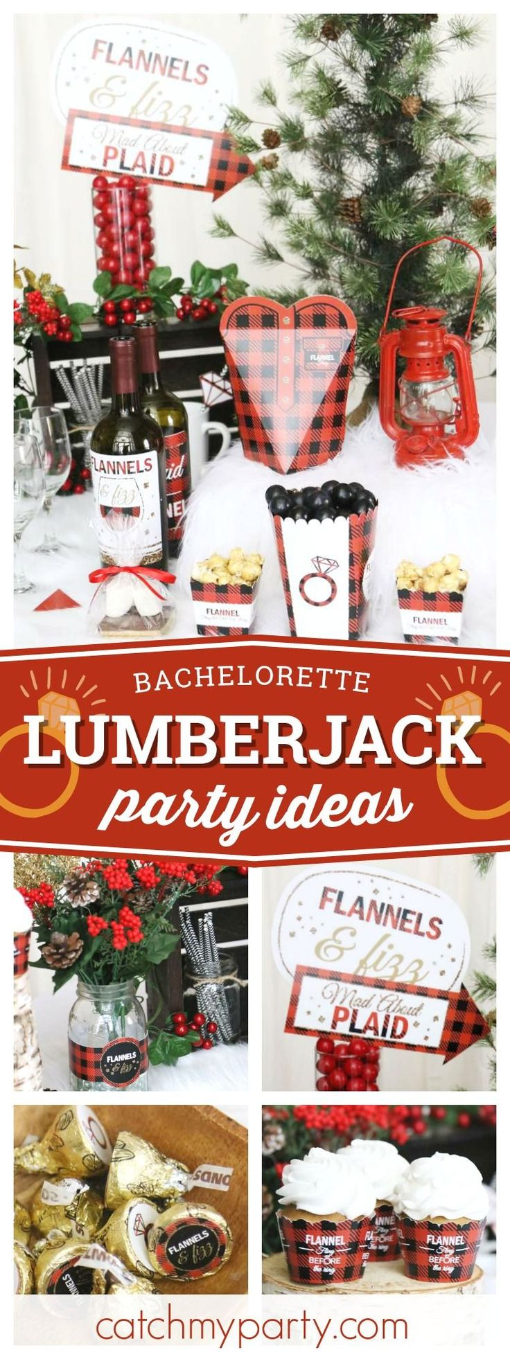 Check out this fantastic Lumberjack themed Bachelorette party! The photo booth props are so much fun!! See more party ideas and share yours at CatchMY…