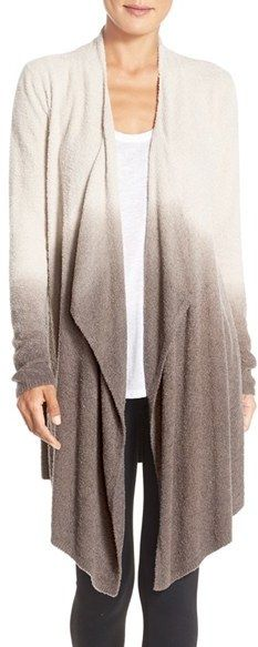 Really love this ombre look!   Women's Barefoot Dreams Cozychic Lite Calypso Wrap Cardigan