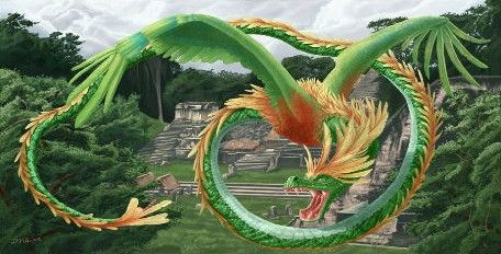 Les dragons dans la mythologie amérindienne prenaient souvent la forme de serpents ailés et étaient considérés comme des divinités majeures.