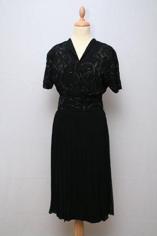 Solgt vintage tøj - Kjole med perlebroderi 1920, XS-S - Solgt - Vintage Divine - 1