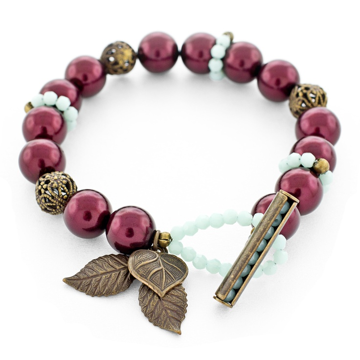 Mulling Spices Bracelet | Fusion Beads Inspiration Gallery/ Looking for these leaves in dark silver.