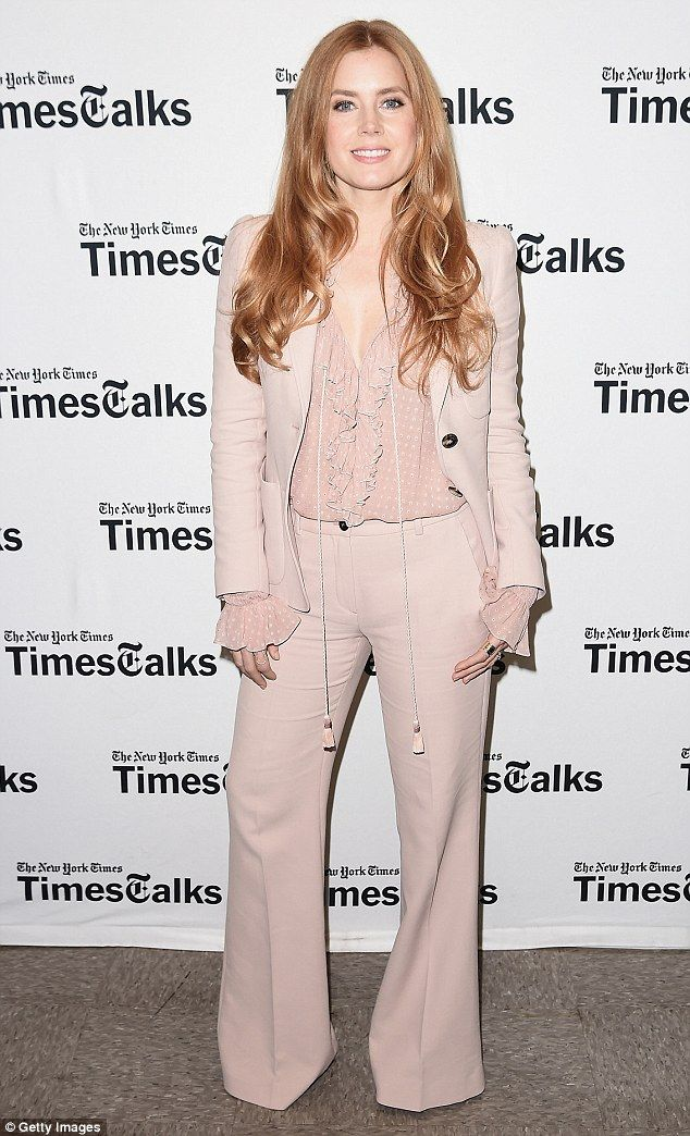 Publicity whirl: Amy Adams was the focus of attention at TimesTalks in NYC on Wednesday night as she continued to promote her new film Arrival
