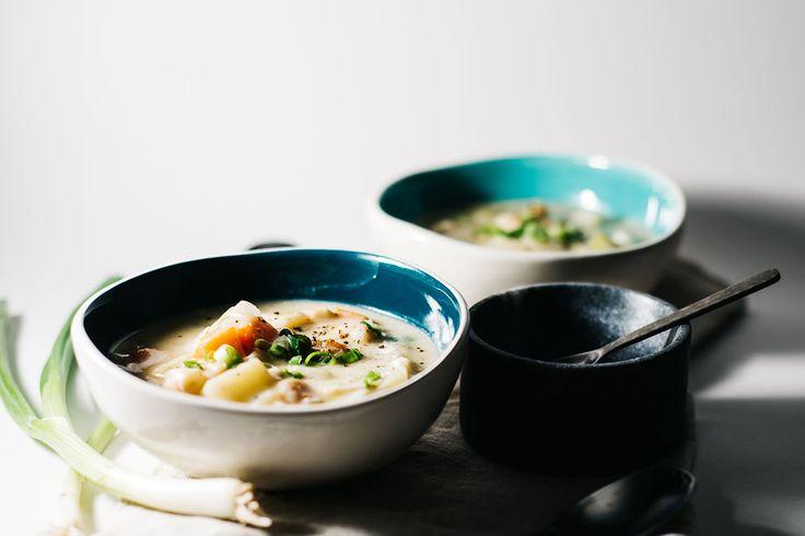 Creamy Miso Seafood Soup | Natrel