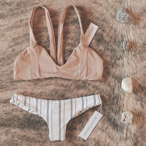 Maillots de bain Bikini Push Up Bikini Brésilien Sexy Bandage Ladies Beach…