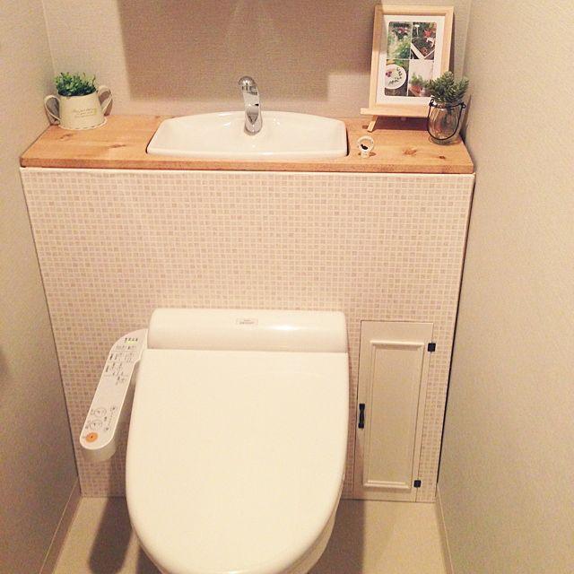 トイレ/タンクレス DIY/プチプラ/トイレ改造計画/DIY/コンテスト参加します☆…などのインテリア実例 - 2014-05-17 23:19:33 | RoomClip(ルームクリップ)