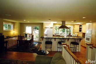 split level remodel open floor plan