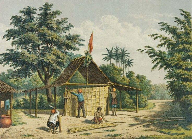 Josias Cornelis Rappard - Membuat rumah dengan bambu di Bogor