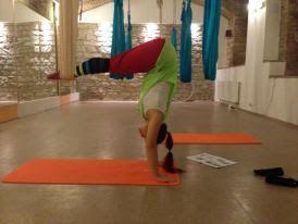 Martanka - Fly Yoga - 7 flying tibetians.  Poletime studio in Prague