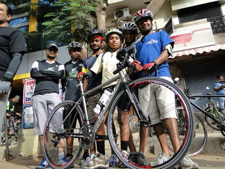 Gogreen campaign ride towards chamrajpet s wheelsports fixie road