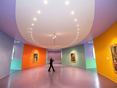 ik vind deze kleuren mooi bij elkaar staan. de ruimte word door de kleuren al warmer!