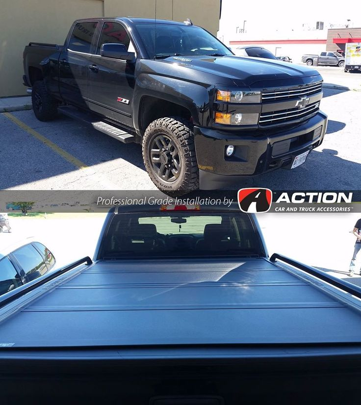 Check out this Black Beauty! a New Chev Silverado with a MX4 tonneau cover by Bak Industries