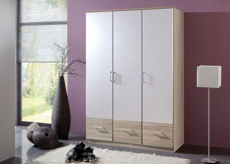 Kleiderschrank Alpinweiß Weiß Eiche Sägerau 5038 Buy now at   - schlafzimmerschrank weiß hochglanz