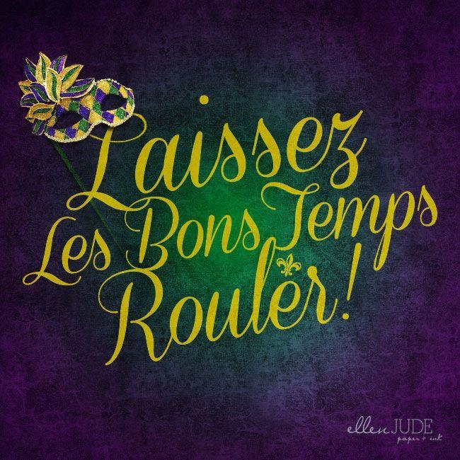 Laissez les bons temps rouler! // Let the good times roll! :: mardi gras print [ via ellenjude.com ]