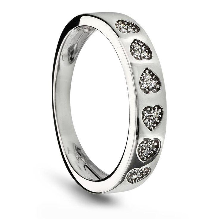 Ring i gull med diamant 0,06 ct WSI - Juvelen gullsmed