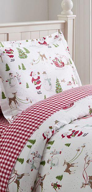 Santa Claus Bedding #kids #christmas