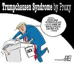 Cartoon by Steve Artley, Trumpchausen by Proxy  -- DACA,Deferred Action for Childhood Arrivals,immigration policy,president donald trump,obama administration,illegal aliens,undocumented aliens,immigrants,citizenship,green card,pathway to citizenship --