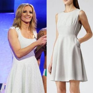 Where did Gabby Logan get her white dress from on Splash 11/01/14? - Style on Screen