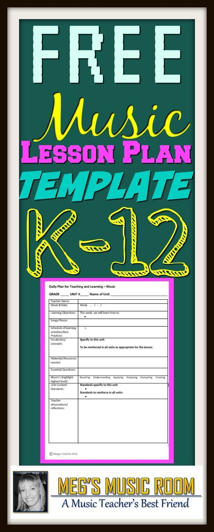 Music Lesson Plan Template Elementary Music Secondary Music Music Lesson Plans Music Lessons For Kids Elementary Music Elementary music lesson plan template