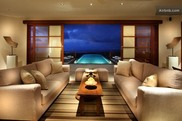 The property enjoys panoramic 270 degree views across to Kuta, Canggu and the peaks of central Bali.