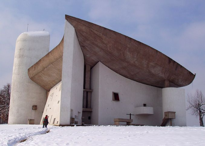 Le Corbusier, Chapel of Notre Dame du Haut, Ronchamps, France