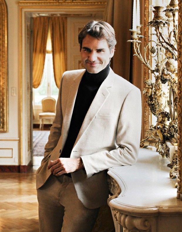 Roger Federer é um homem que transpira sucesso