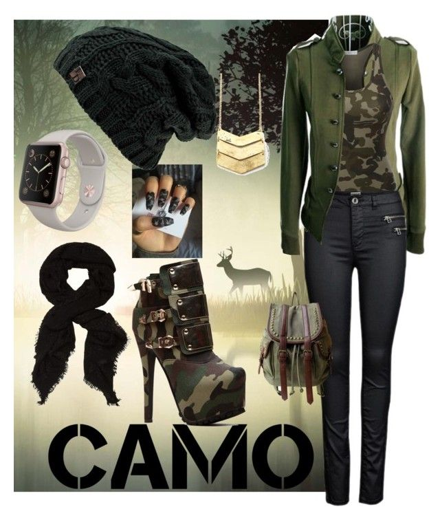"""""""College camo"""" by ildiko-klara-kulcsar ❤ liked on Polyvore featuring LE3NO and OLIVIA MILLER"""