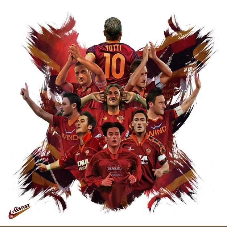 Francesco Totti's incredible Roma career depicted in one fantastic artwork