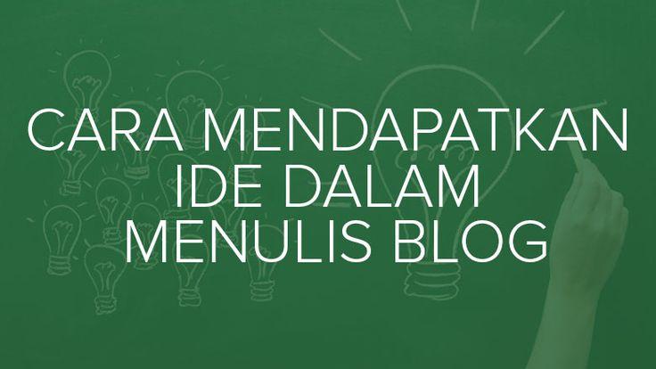Pada artikel ini kami akan membahas cara mendapatkan ide dalam menulis blog dan mengatasi mental block-mu. Silahkan simak dengan seksama.