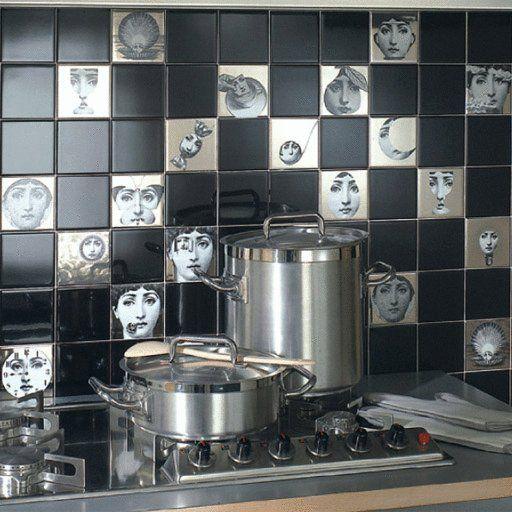 Fornasetti tiles by Ceramica Bardelli . Italian tiles (BB)