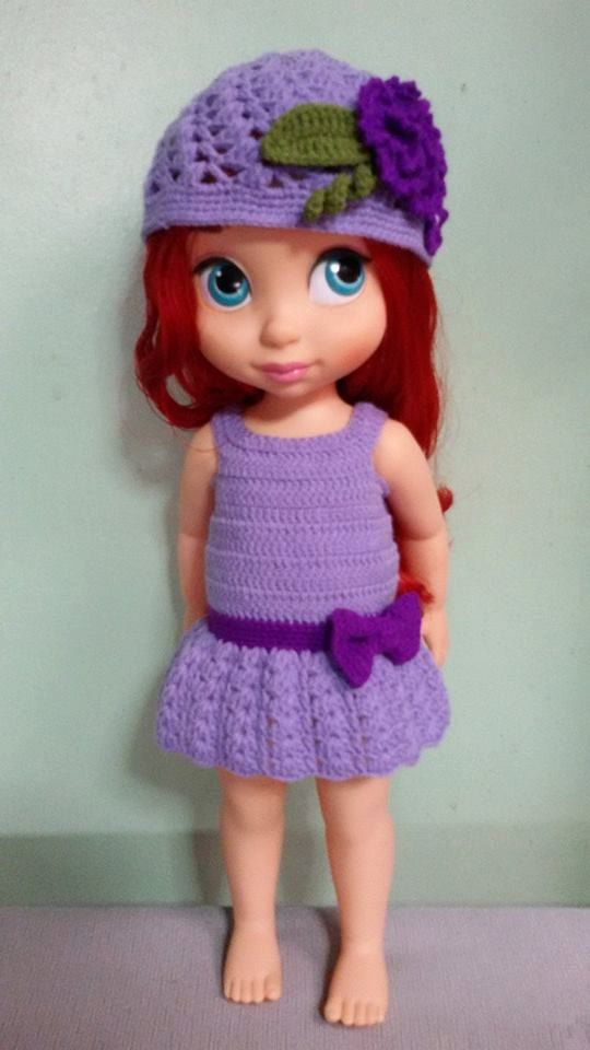 Crochet Costume Clothes for Disney Princess Animator Doll - MADE TO ORDER - Handmade on Etsy, 23,00$