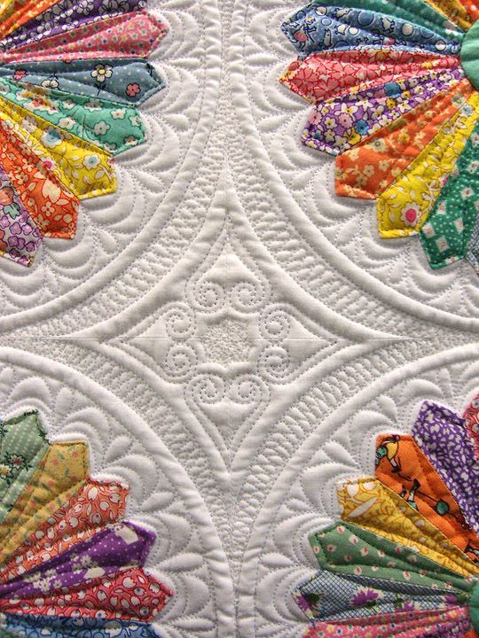 Inspired by Alice, by Marilyn Lidstrom Larson, detail of center quilting