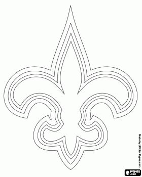 Logo of New Orleans Saints, american football team in the NFC South Division, New Orleans, Louisiana coloring page
