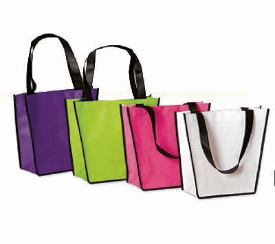 If your looking for the eco friendly option then look no further! Our Trapezoid Non Woven bags are made from 100% polypropylene. With its black loop handles and a side and bottom gusset these bags provide strength and durability. All bags have a black trim.
