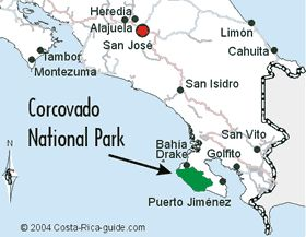 Corcovado National Park in Costa Rica, best backpacking, wildlife and bird viewing.