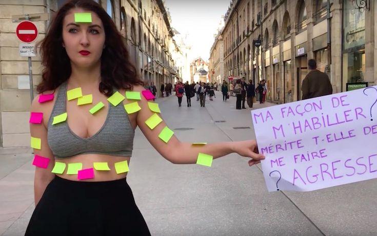 Des étudiantes en école de commerce ont testé la foule afin de dénoncer les clichés autour du viol en France.