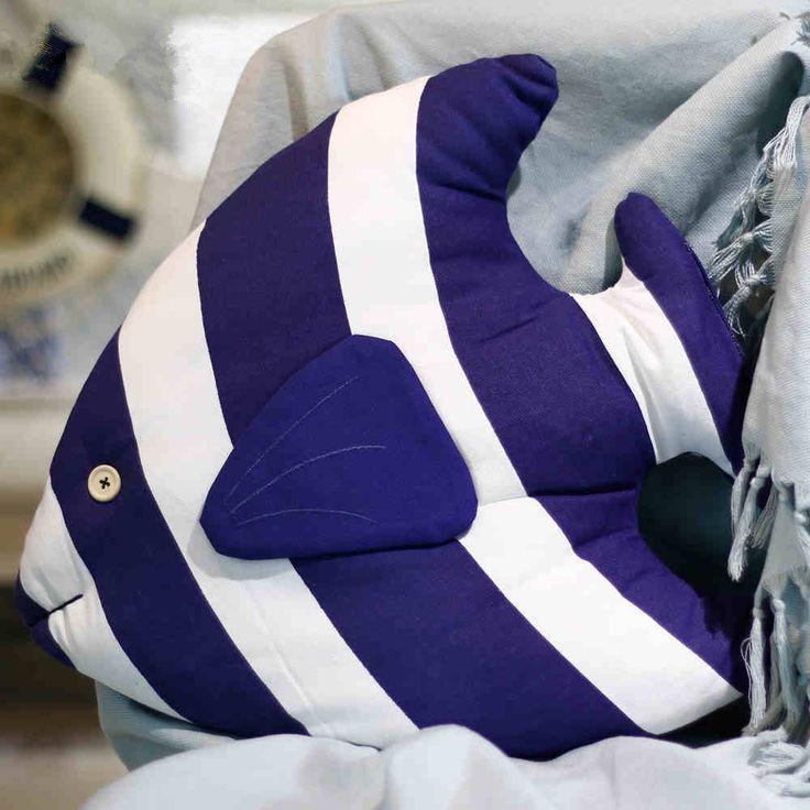 Aibei-48см * 38см Ткань Тропические рыбы Подушка Средиземноморский стиль Подушка (в том числе заполнение) на диване для украшения дома