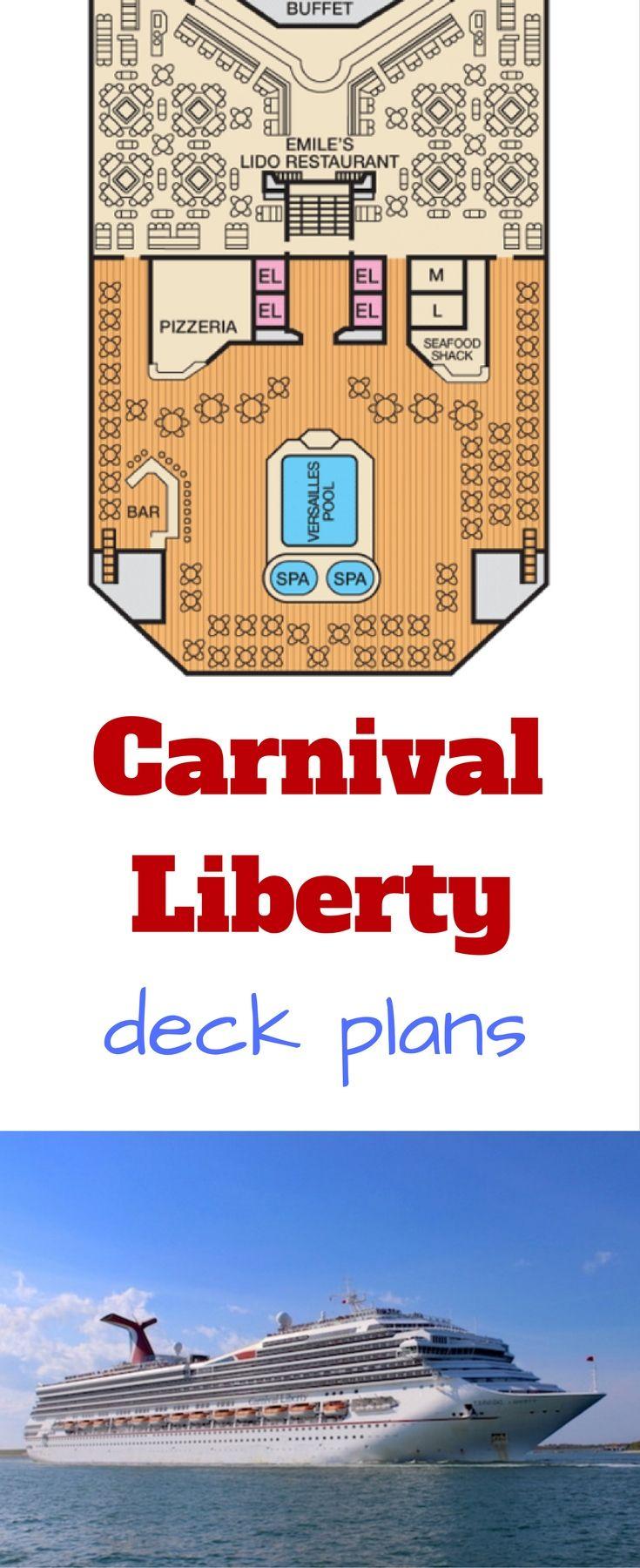 #carnival #ship #cruise carnival liberty cruise ship #vacation #travel deck plans #deckplans