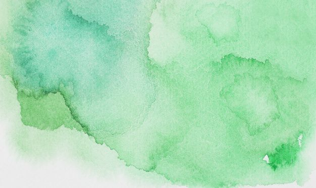 Download Abstract Green Spots Of Paints On White Paper For Free